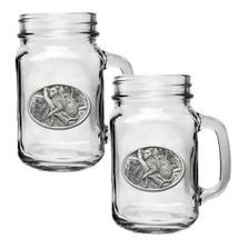 Leopard Mason Jar Mug Set of 2 | Heritage Pewter | HPIMJM137