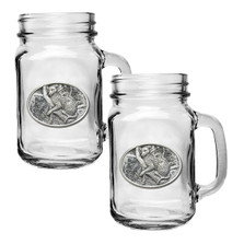 Leopard Mason Jar Mug Set of 2 | Heritage Pewter | HPIMJM137