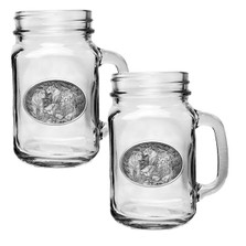 Lion Mason Jar Mug Set of 2 | Heritage Pewter | HPIMJM119