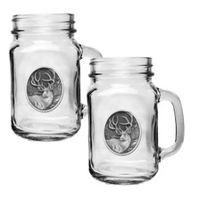 Mule Deer Mason Jar Mug Set of 2 | Heritage Pewter | HPIMJM210