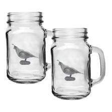 Quail Mason Jar Mug Set of 2 | Heritage Pewter | HPIMJM3140