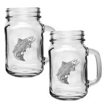Salmon Mason Jar Mug Set of 2 | Heritage Pewter | HPIMJM3690