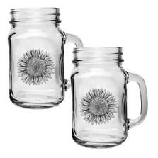 Sunflower Mason Jar Mug Set of 2 | Heritage Pewter | HPIMJM4037