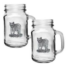 Tiger Mason Jar Mug Set of 2 | Heritage Pewter | HPIMJM3986