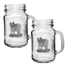 Tiger Mason Jar Mug Set of 2 | Heritage Pewter | HPIMJM3986