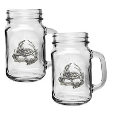 Turtle Mason Jar Mug Set of 2 | Heritage Pewter | HPIMJM4115
