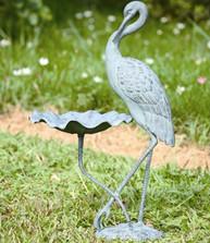 Crane Birdbath | 33086 | SPI Home