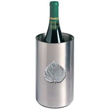Aspen Leaf Wine Chiller | Heritage Pewter | HPIWNC4051
