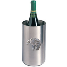 Bear Tribal Art Wine Chiller | Heritage Pewter | HPIWNC3999