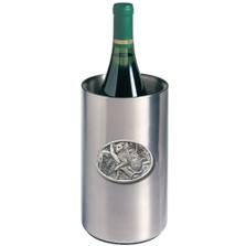 Leopard Wine Chiller   Heritage Pewter   HPIWNC137