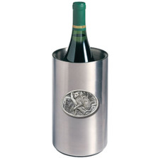 Leopard Wine Chiller | Heritage Pewter | HPIWNC137