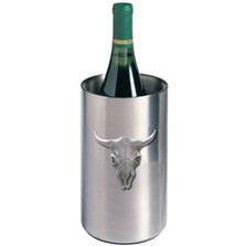 Longhorn Skull Wine Chiller | Heritage Pewter | HPIWNC3270