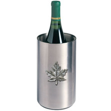 Maple Leaf Wine Chiller | Heritage Pewter | HPIWNC4111