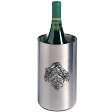 Oak Leaf Wine Chiller | Heritage Pewter | HPIWNC4136