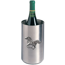 Horse Tribal Wine Chiller | Heritage Pewter | HPIWNC4229