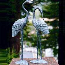 Crane Sculpture Love Pair | BP15362 | SPI Home