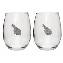 Alligator Stemless Goblet Set of 2 | Heritage Pewter | HPISGB3161