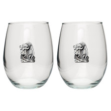 Buffalo Stemless Goblet Set of 2 | Heritage Pewter | HPISGB701