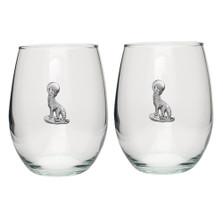 Coyote Stemless Goblet Set of 2 | Heritage Pewter | HPISGB3004