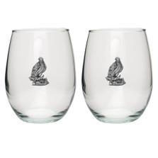Butterfly Stemless Goblet Set of 2 | Heritage Pewter | HPISGB3090
