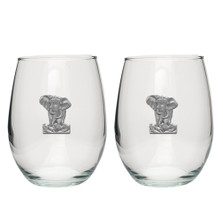 Elephant Stemless Goblet Set of 2 | Heritage Pewter | HPISGB706