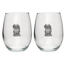 Elk Stemless Goblet Set of 2 | Heritage Pewter | HPISGB704