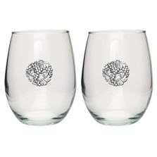 Grape Stemless Goblet Set of 2 | Heritage Pewter | HPISGB3085