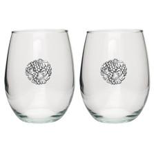 Grape Stemless Goblet Set of 2 | Heritage Pewter | HPISGB3085