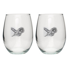 Hummingbird Stemless Goblet Set of 2 | Heritage Pewter | HPISGB734