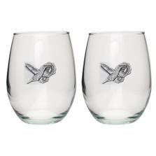 Hummingbird Stemless Goblet Set of 2 | Heritage Pewter | HPISGB734