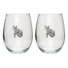 Leopard Stemless Goblet Set of 2 | Heritage Pewter | HPISGB737
