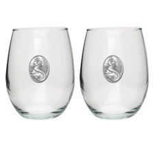 Mermaid Stemless Goblet Set of 2 | Heritage Pewter | HPISGB4272