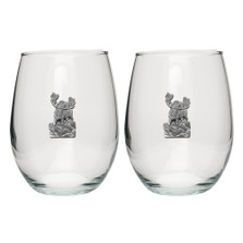 Moose Stemless Goblet Set of 2 | Heritage Pewter | HPISGB703