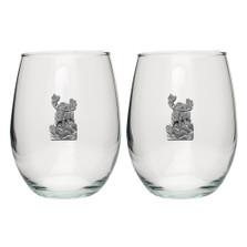 Moose Stemless Goblet Set of 2 | Heritage Pewter | HPISGB703