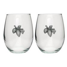 Pinecone Stemless Goblet Set of 2 | Heritage Pewter | HPISGB3022