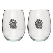 Sea Turtle Stemless Goblet Set of 2 | Heritage Pewter | HPISGB3148