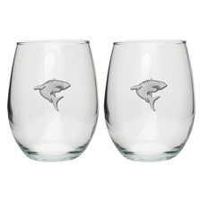 Shark Stemless Goblet Set of 2 | Heritage Pewter | HPISGB3121