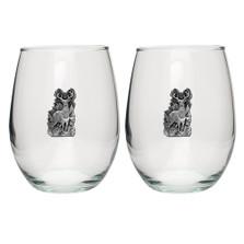 Whitetail Deer Stemless Goblet Set of 2 | Heritage Pewter | HPISGB711