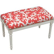 Coral Bench | Upholstered Coral Bench | CS068WBC-CO