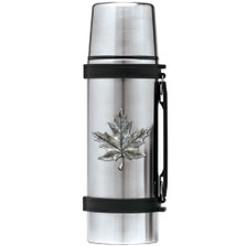 Maple Leaf Thermos | Heritage Pewter | HPITHS4111