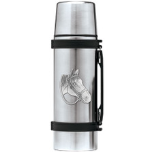 Quarter Horse Thermos | Heritage Pewter | HPITHS4094