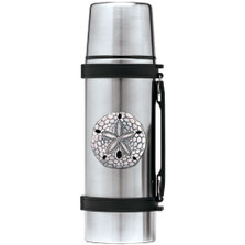 Sand Dollar Thermos | Heritage Pewter | HPITHS3300