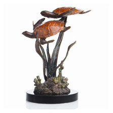 """Lagoon Encounter"" Sea Turtle Duo Sculpture 