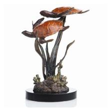 """Lagoon Encounter"" Sea Turtle Duo Sculpture | 80081 | SPI Home"