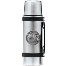 Wood Duck Thermos   Heritage Pewter   HPITHS4085