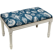 Shell Bench | Upholstered Sea Shell Bench | CS020WBC-NY