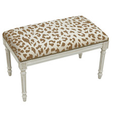 Cheetah Print Bench | Upholstered Cheetah Bench | CS065WBC-CA