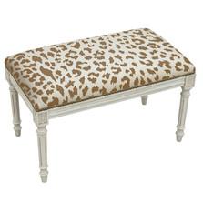 Cheetah Print Bench | Upholstered Cheetah Bench | CS065WBC-CA