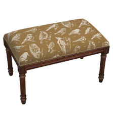 Bird Watch Bench | Upholstered Bird Bench | CS062BC-CA