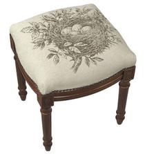 Bird's Nest Upholstered Vanity Stool | Bird's Nest Vanity Stool | CS036FS-GY